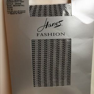 HANES FASHION HOUNDSTOOTH TIGHTS SIZE MED/TALL